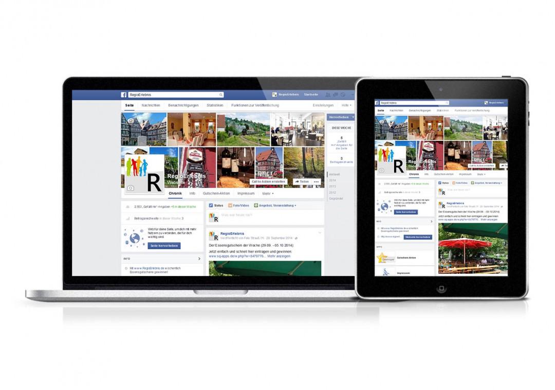 Facebook-Auftritt: Erstellung & Pflege für RegioErlebnis
