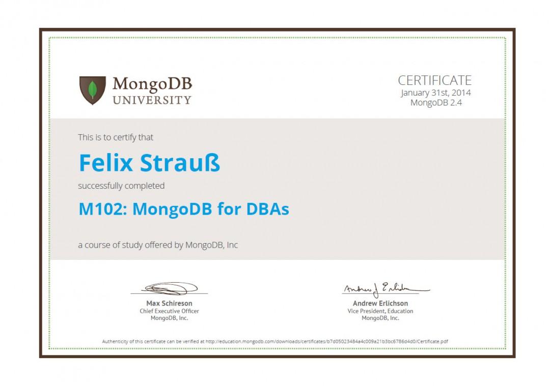 M102: MongoDB for DBAs