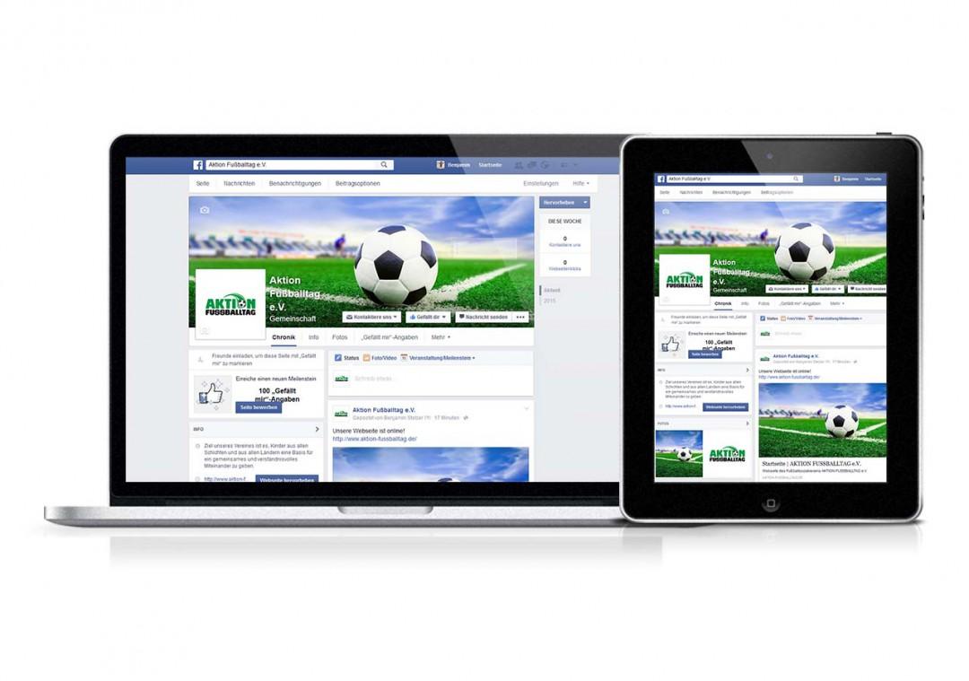Facebook-Auftritt: Erstellung & Pflege für AKTION FUSSBALLTAG e.V.